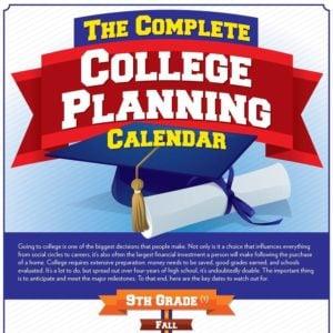 College Planning Calendar