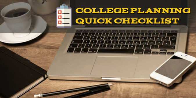 College Planning Quick Checklist