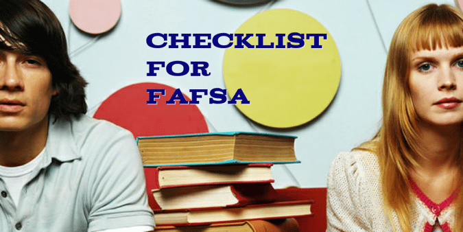 fasfa checklist