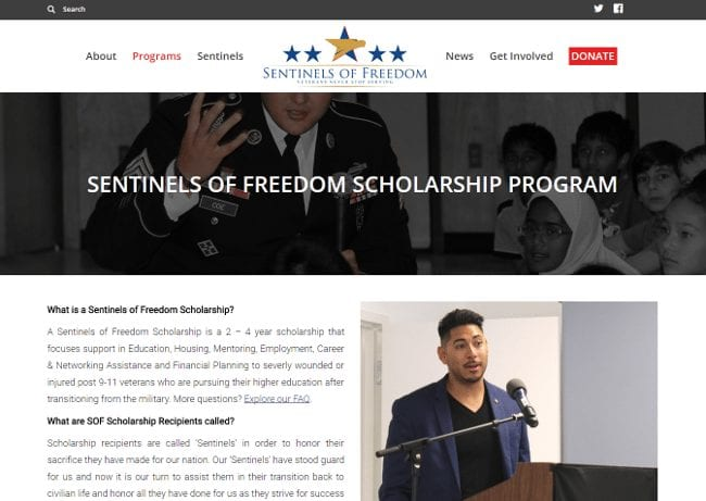 Sentinels of Freedom Scholarship
