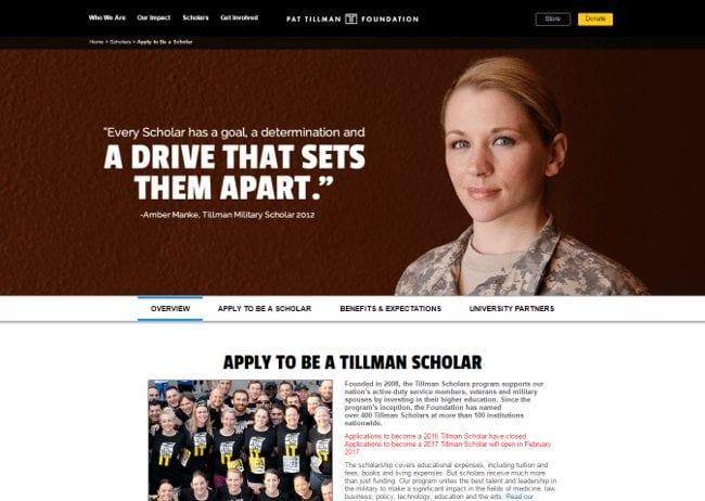 Tillman Scholars - Pat Tillman Foundation