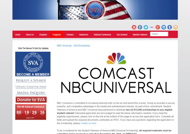 NBC Universal - SVA Scholarship