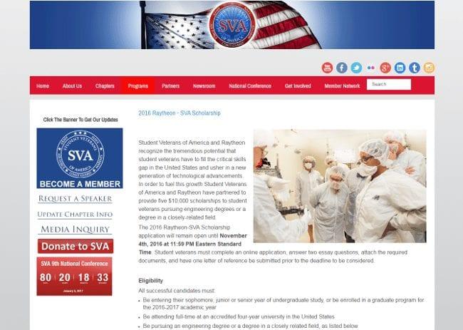 2016 Raytheon - SVA Scholarship