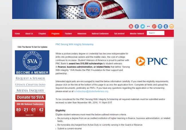 PNC Serving With Integrity Scholarship