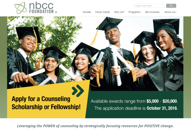 NBCCF Military Scholarship