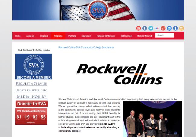 Rockwell Collins-SVA Community College Scholarship