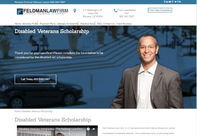 Disabled Veterans Scholarship