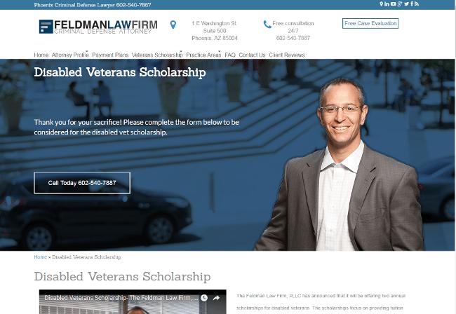 Disabled Veterans Scholarship