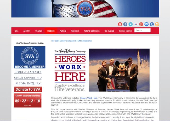 The Walt Disney Company STEM Scholarship