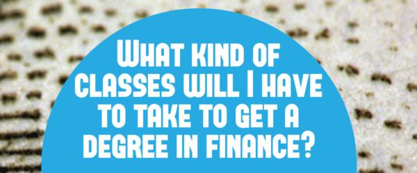 finance degree classes