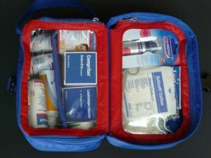 first aid kit, teachers, classroom, elementary school