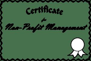 non-profit management certificate, non-profit management degree, non-profit degree program, how to run a non-profit organization